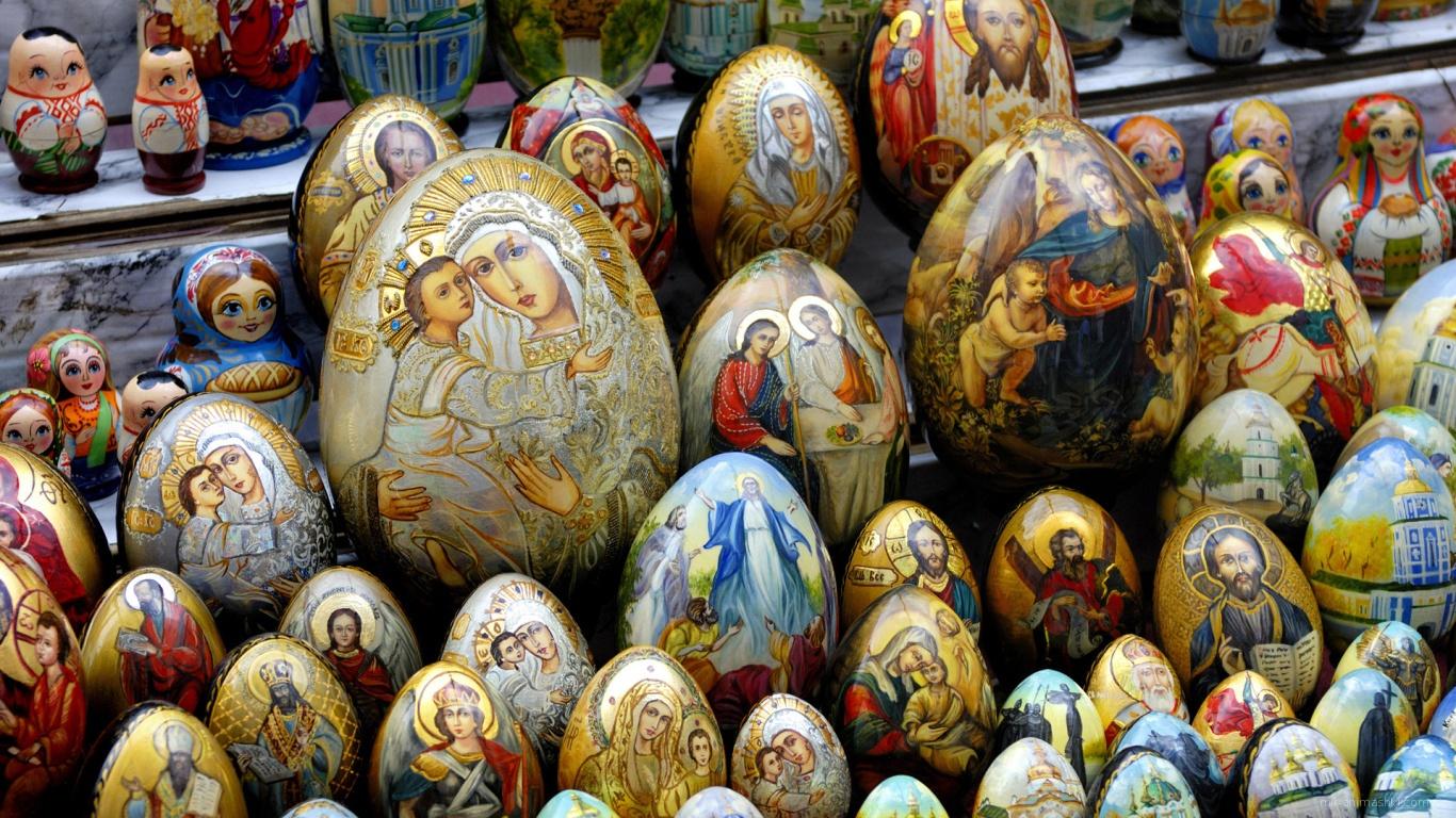 Яйца с изображением икон на Пасху - C Пасхой поздравительные картинки