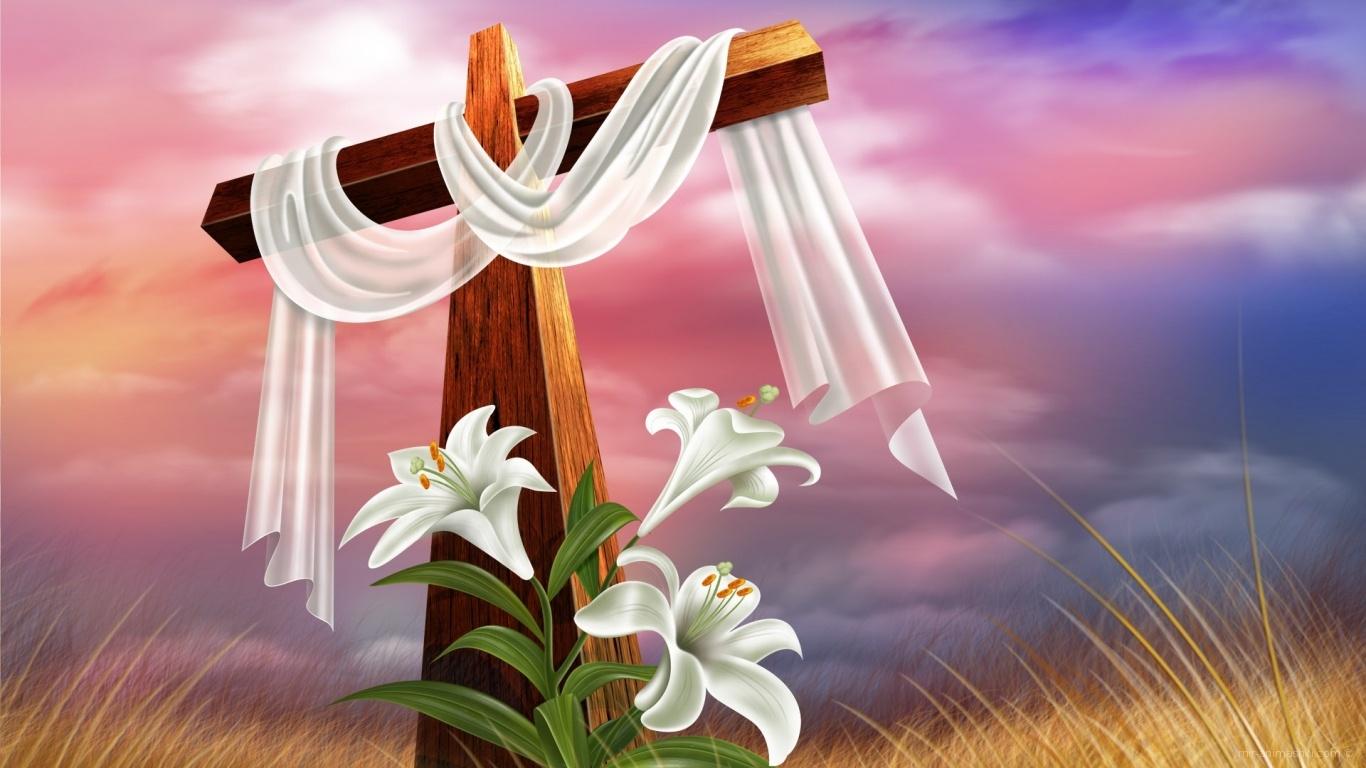 Пасхальная открытка христианская