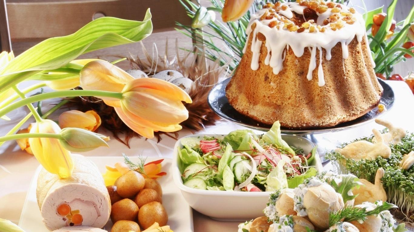 Праздничный стол на Пасху - C Пасхой поздравительные картинки