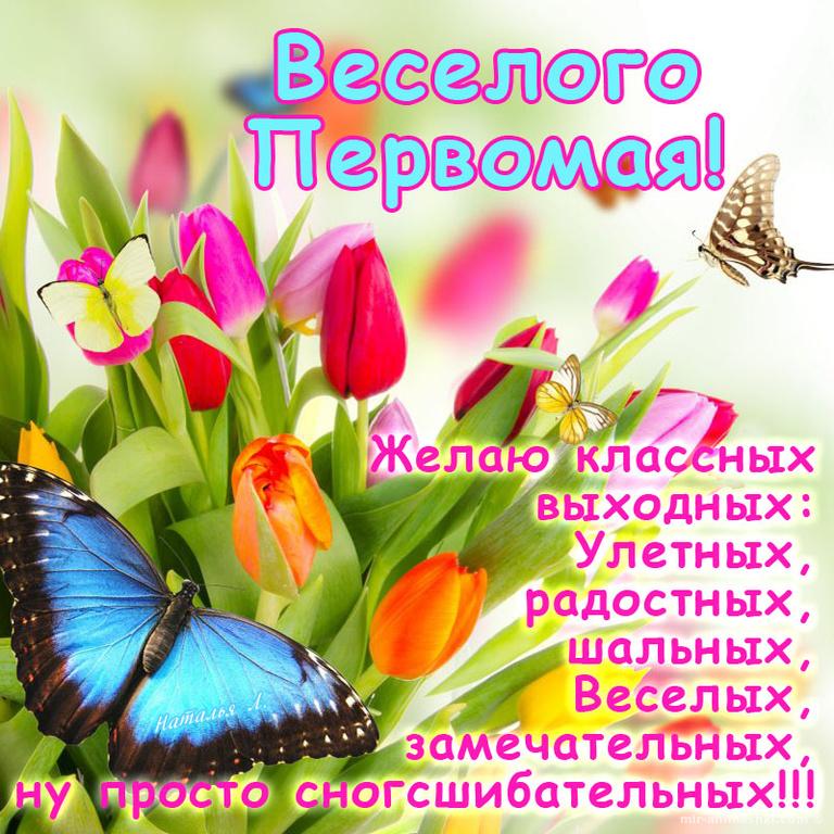 Поздравительная картинка с первым мая - Поздравления с 1 мая поздравительные картинки