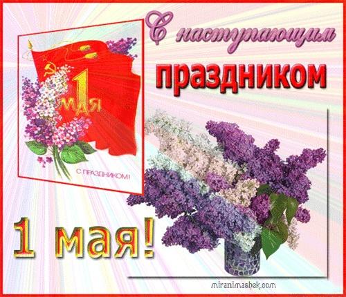 С наступающим праздником 1 мая - Поздравления с 1 мая поздравительные картинки