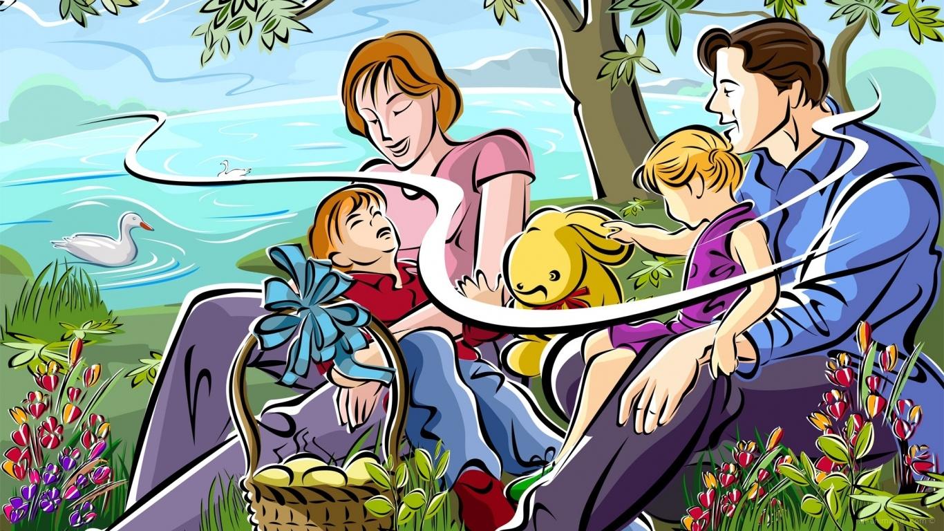 Пасха  семейный праздник - C Пасхой поздравительные картинки