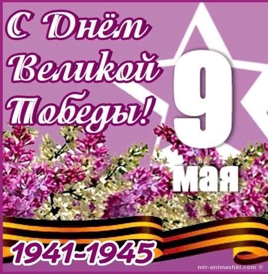 Красивая открытка на 9 мая со стихами - С Днём Победы 9 мая поздравительные картинки