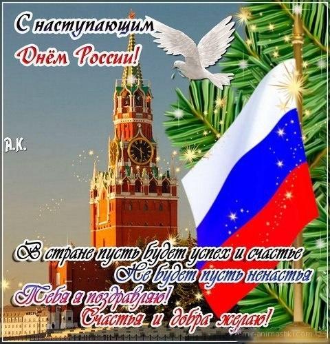 Приколы картинка, открытка с наступающим днем россии