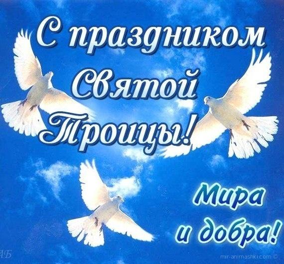 С праздником Троицы - Мира и добра - С Троицей поздравительные картинки