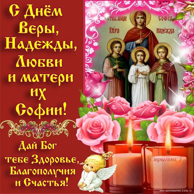 Поздравления открытки вера надежда любовь и мать их софия праздник 2018