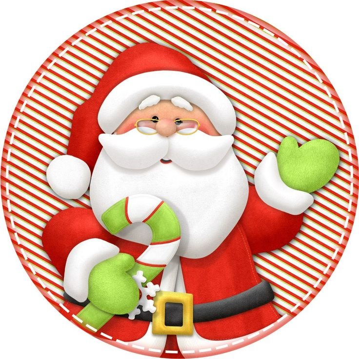 Открытка с Сантой - Дед Мороз и Снегурочка поздравительные картинки