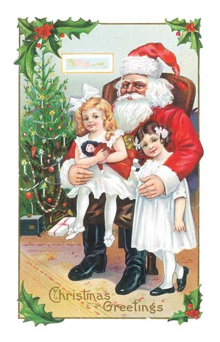 Викторианский Дед Мороз - Дед Мороз и Снегурочка поздравительные картинки