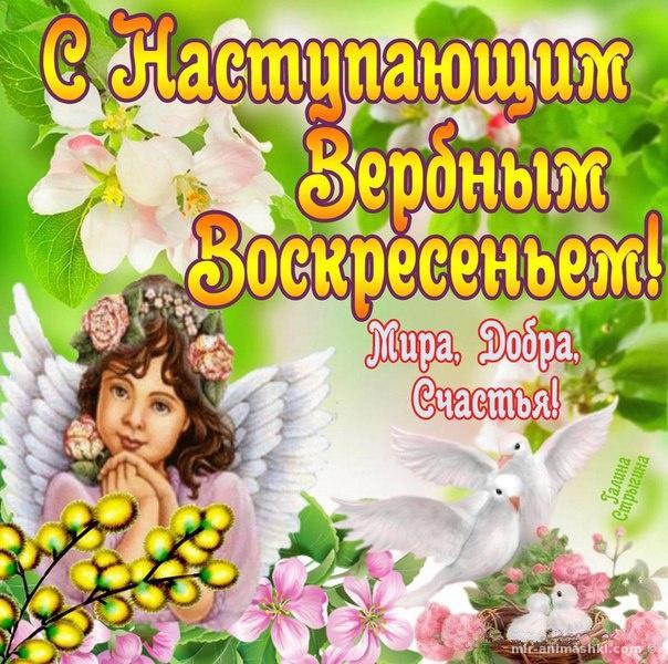 Яркие открытки с Вербным Воскресеньем - С Вербным Воскресеньем поздравительные картинки