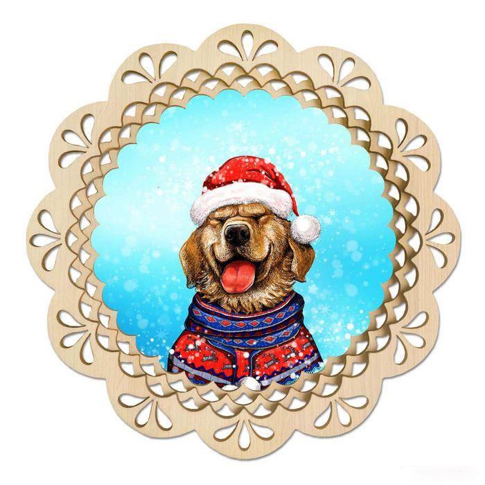 2018 - год собаки - C Новым годом  2019 поздравительные картинки