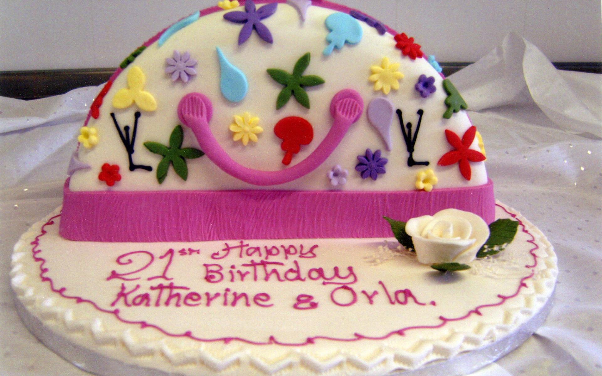 Красивый торт ко дню рождения - С Днем Рождения поздравительные картинки