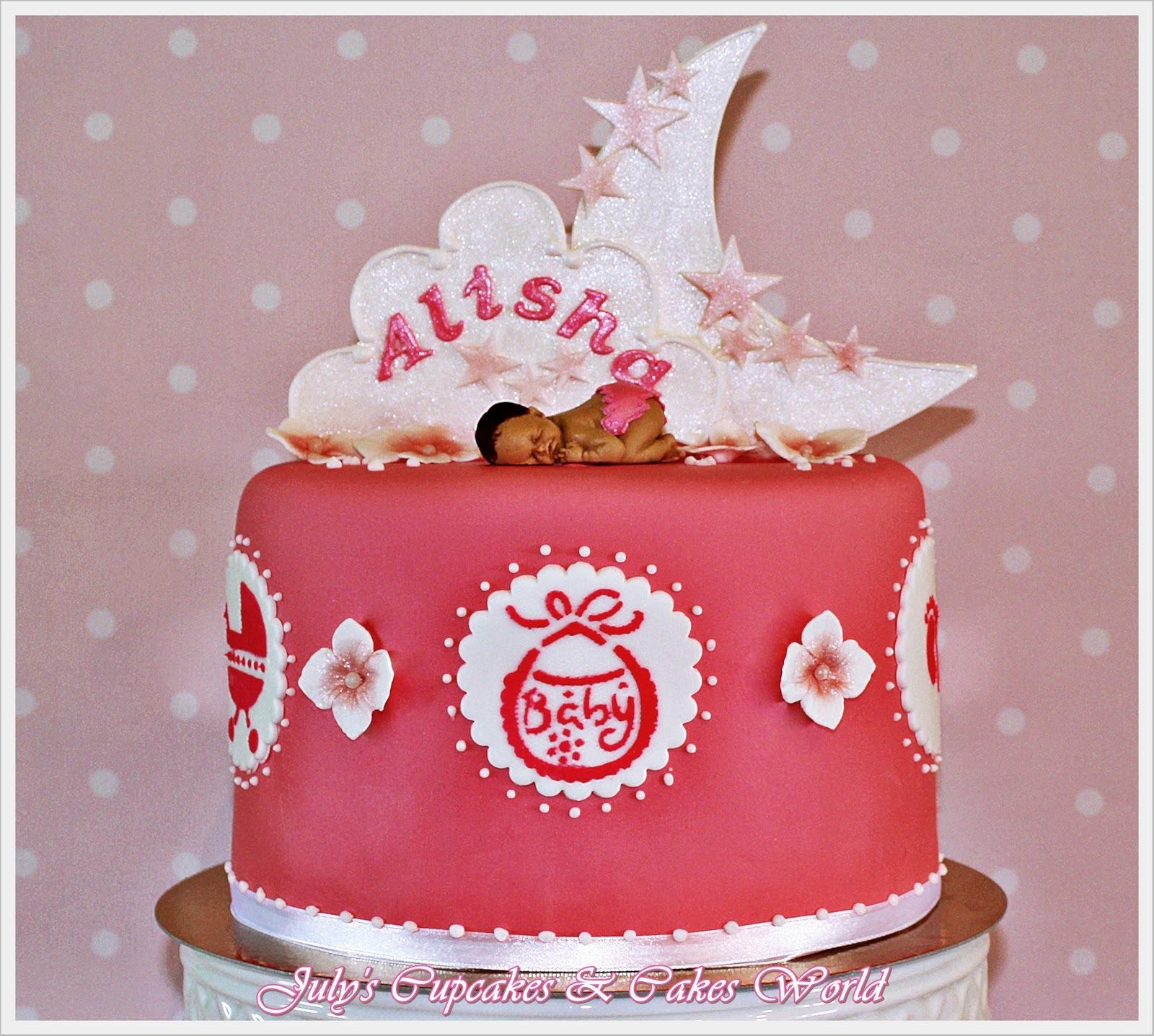 Розовый торт ко дню рождения - С Днем Рождения поздравительные картинки