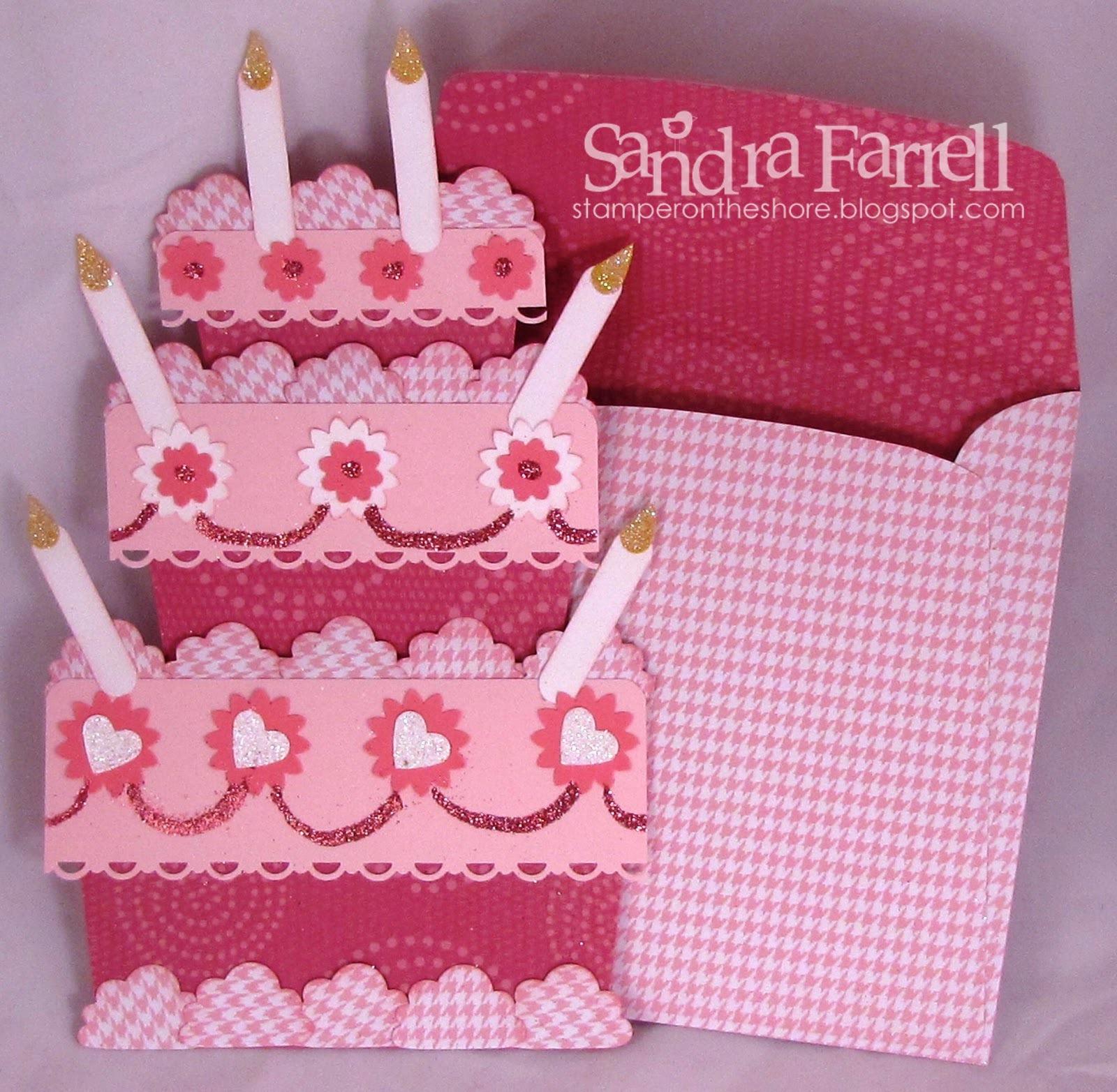 Открытка на день рождения в форме торта - С Днем Рождения поздравительные картинки