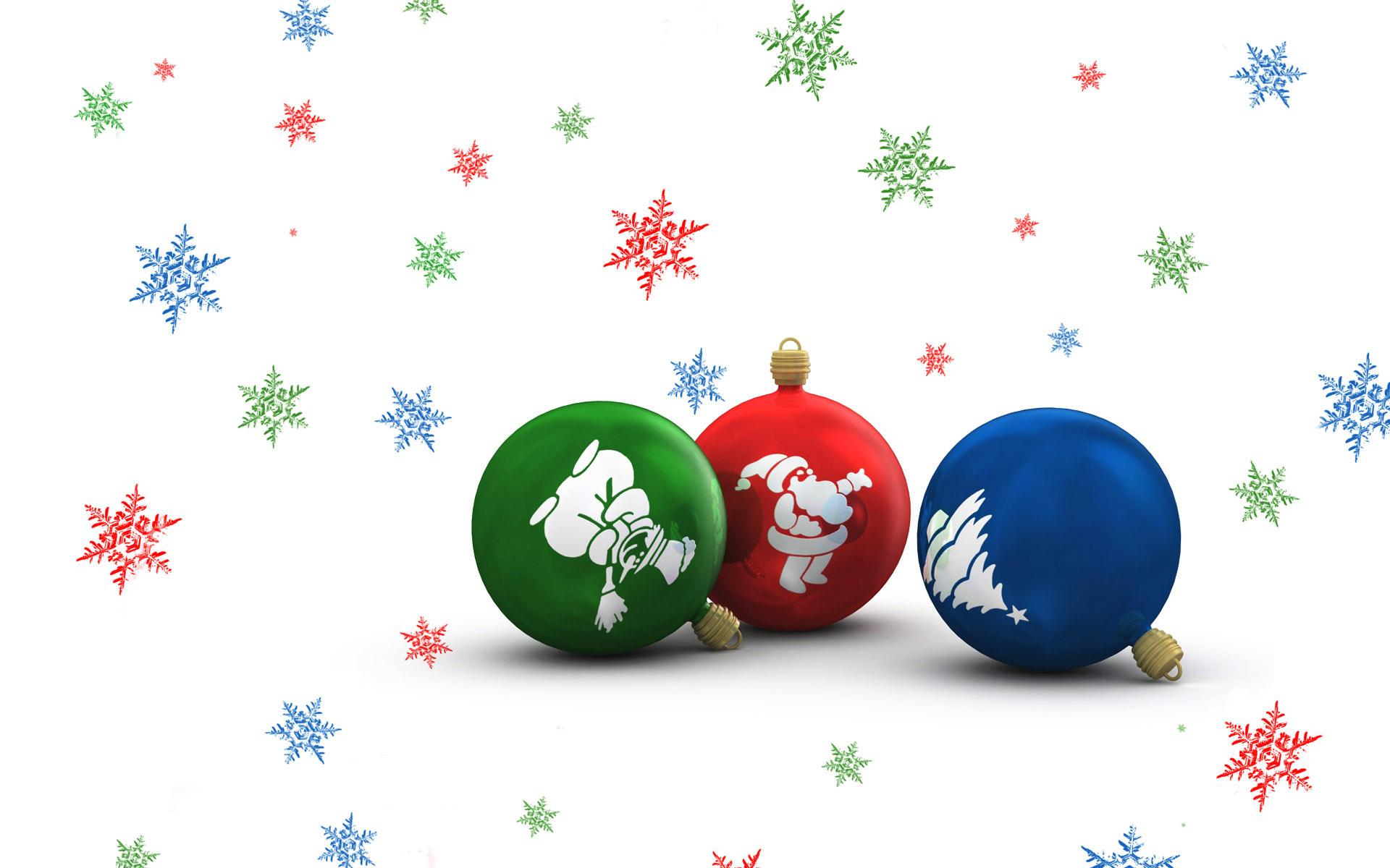 Праздничные шарики - C Новым годом  2018 поздравительные картинки