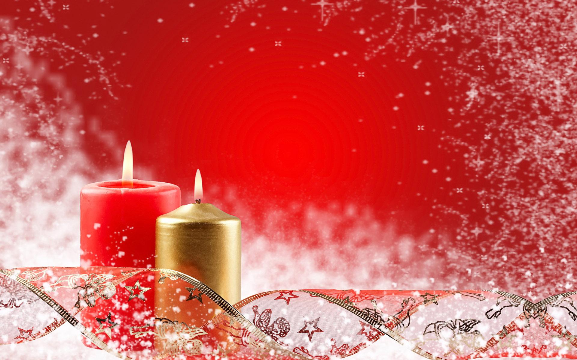 Новогодние свечи - C Новым годом  2018 поздравительные картинки