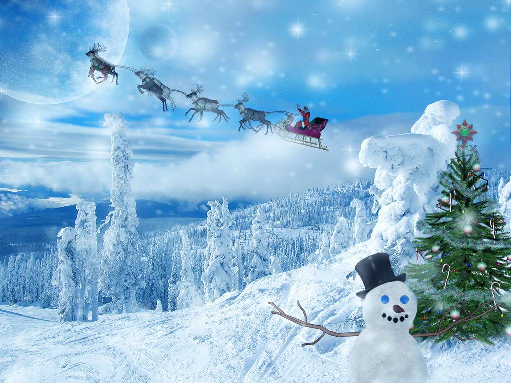 Морозное Новогоднее утро - C Новым годом  2017 поздравительные картинки