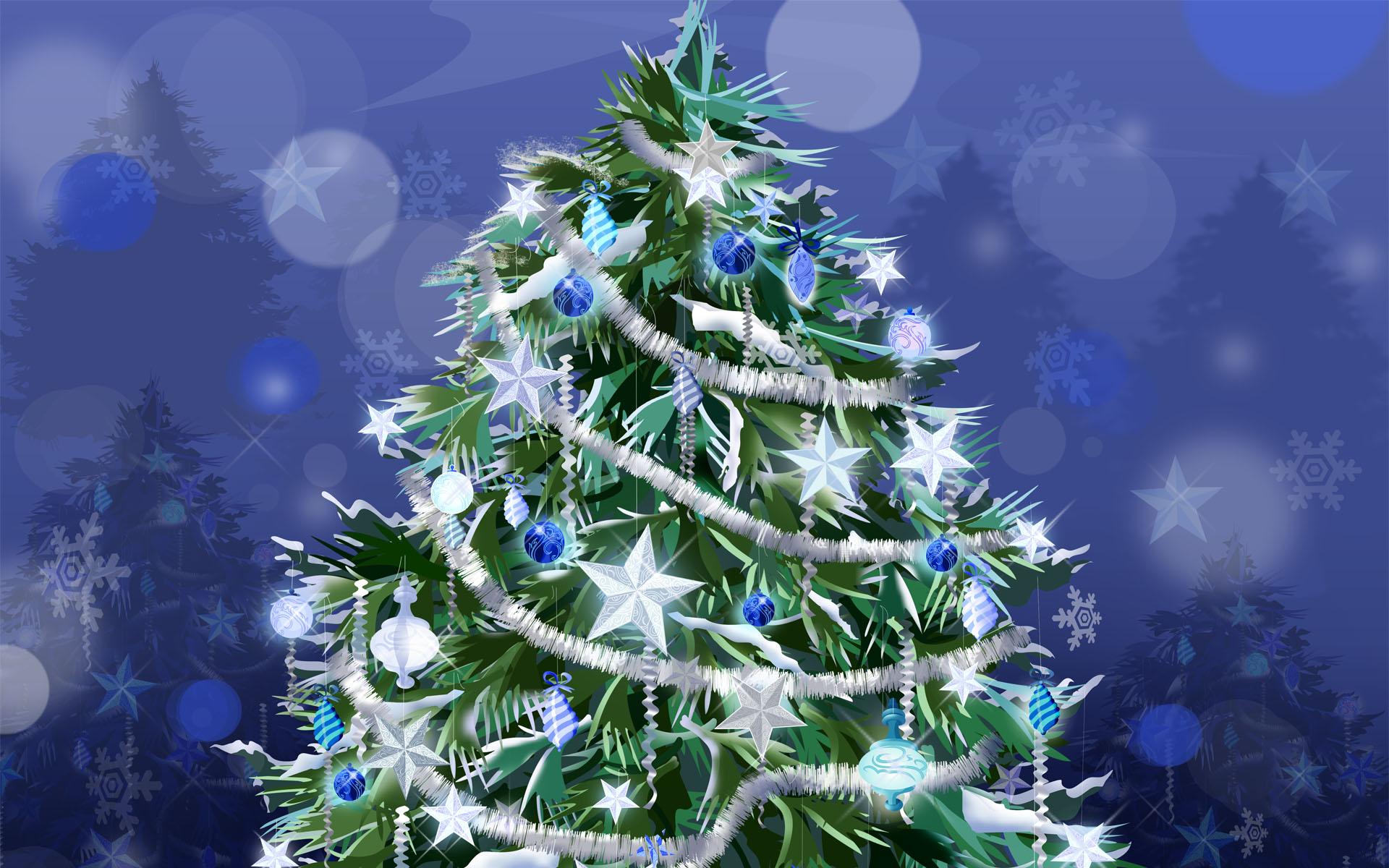 Праздничная ель / Новый Год - C Новым годом  2018 поздравительные картинки