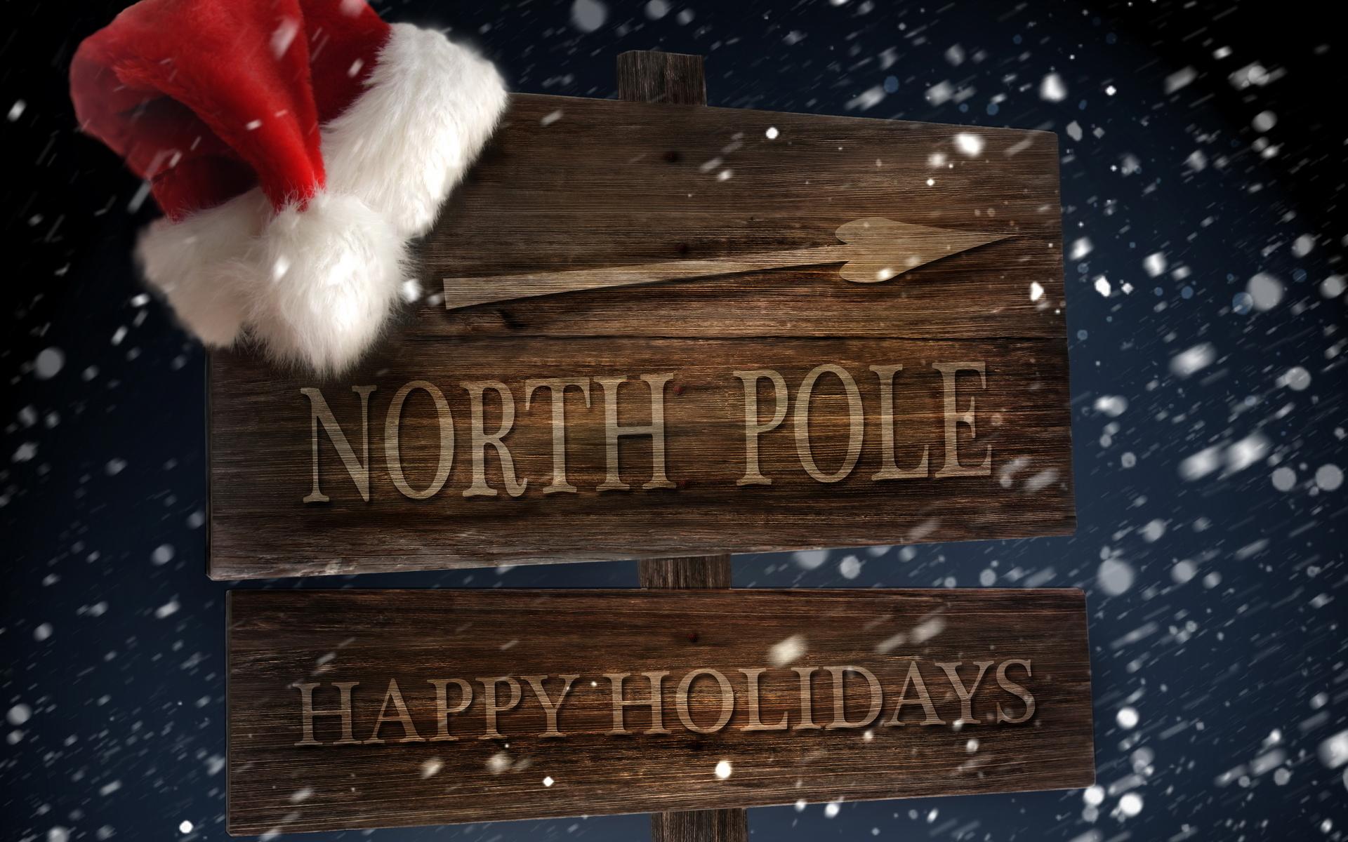 Северный Полюс - C Новым годом  2018 поздравительные картинки