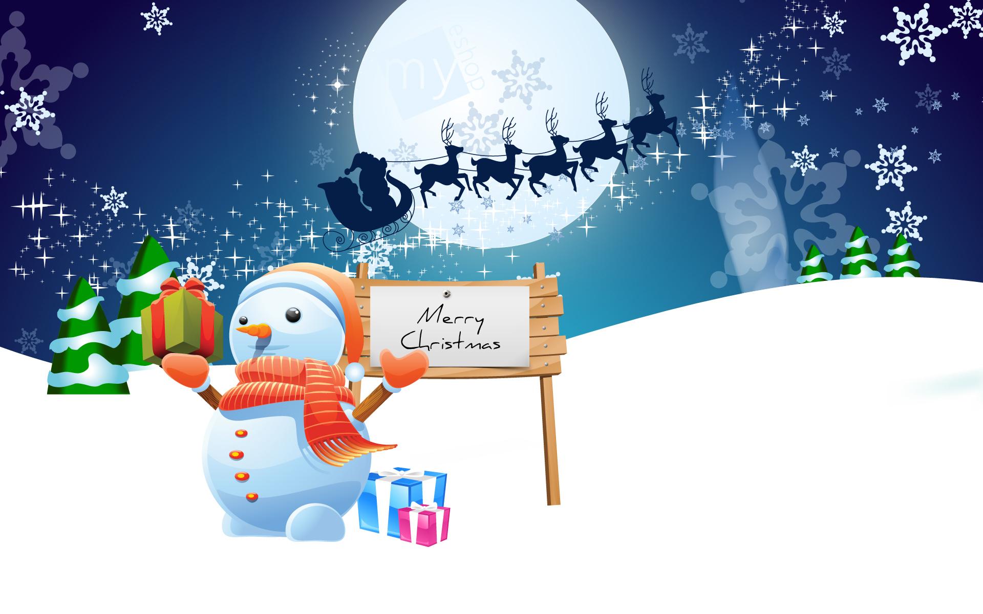 Счастливого Рождества - C Новым годом  2018 поздравительные картинки