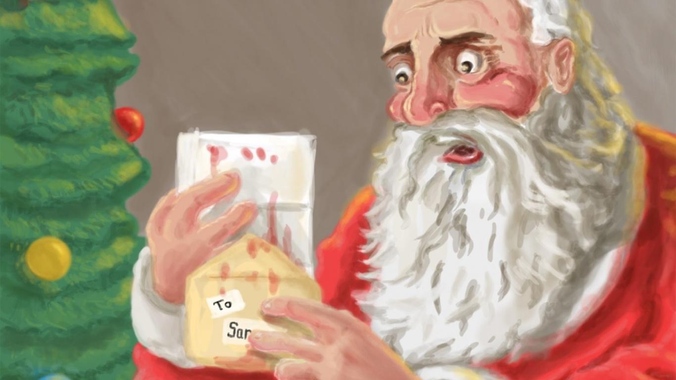 Пожелание Санта Клаусу - C Новым годом  2019 поздравительные картинки