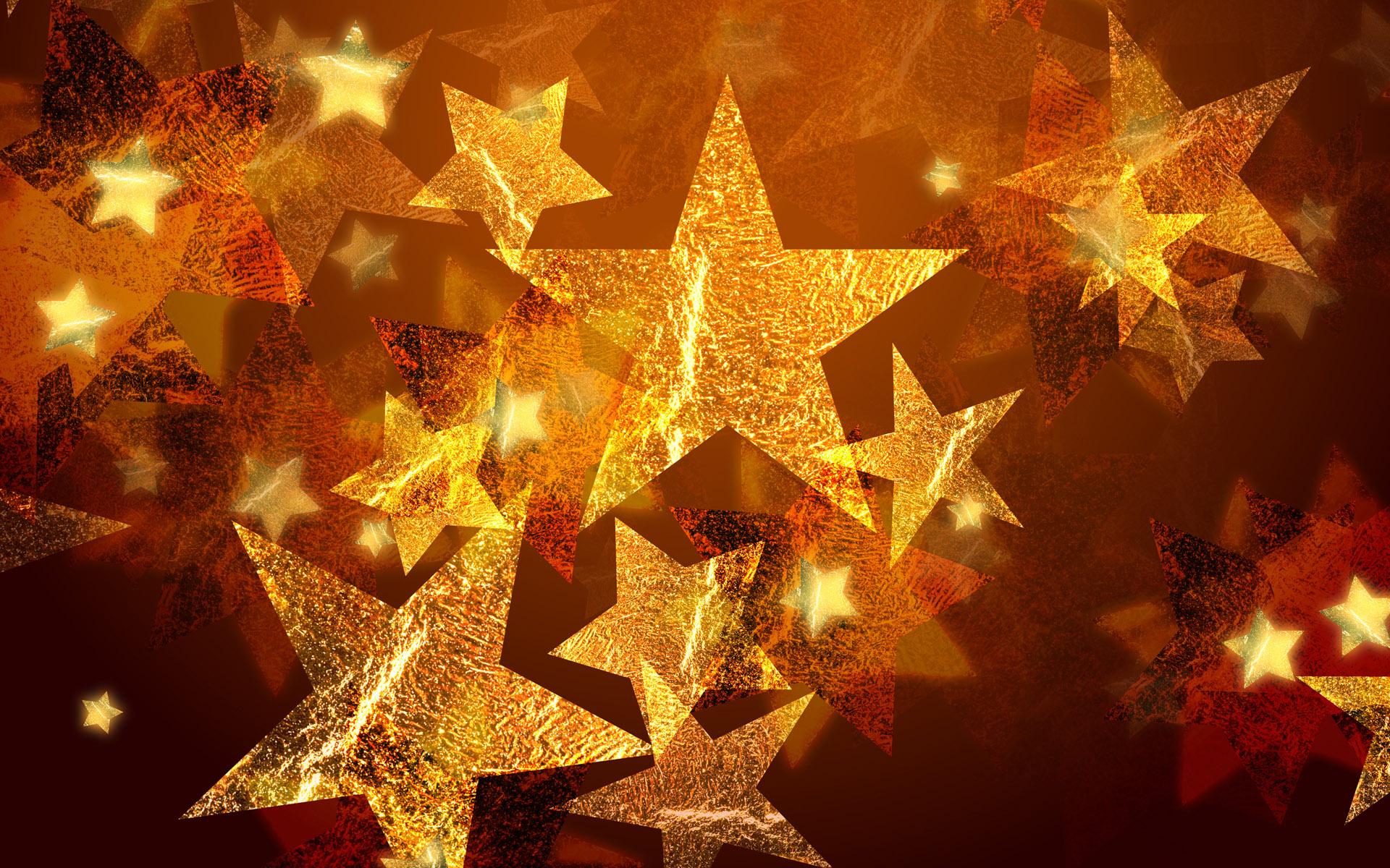Новогодние звезды - C Новым годом  2018 поздравительные картинки