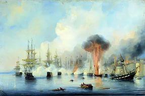 Победа русской эскадры в Синопском сражении - Профессиональные праздники поздравительные картинки