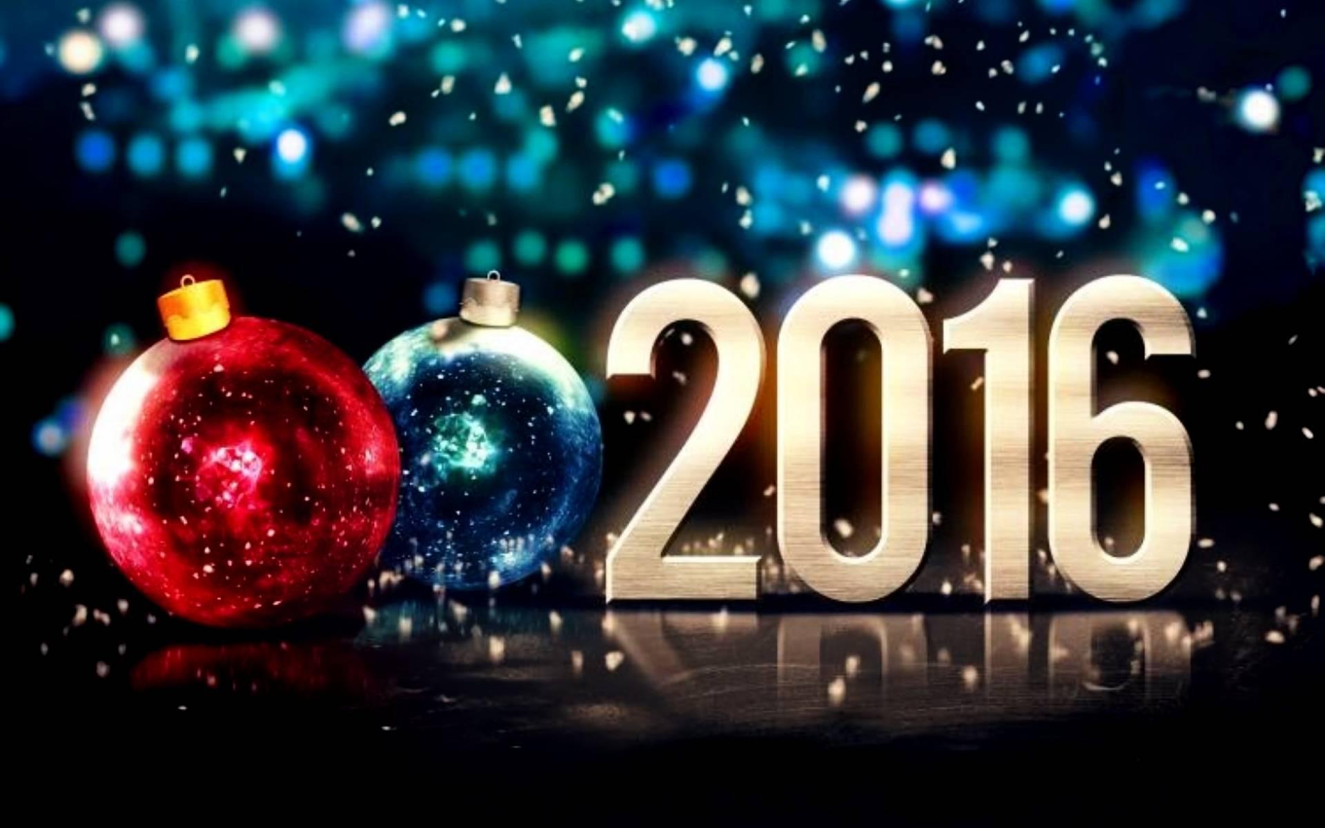 Открытка а новым годом 2016, открытки днем