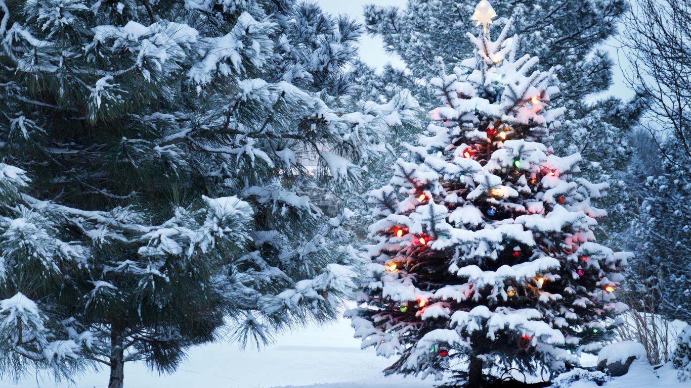 Новогодняя ёлка - C наступающим новым годом 2019 поздравительные картинки