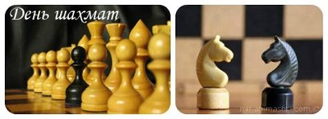 Международный день шахмат - 20 июля 2018