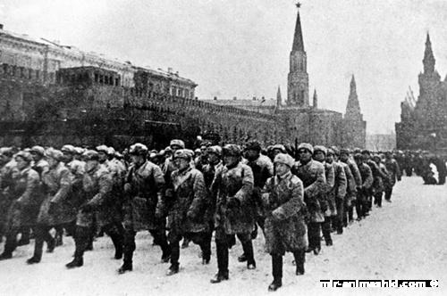 Парад на красной площади в 1941 году