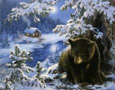 Медведь и синичка
