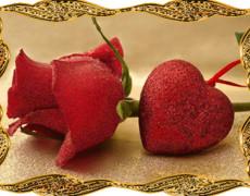 Роза и сердце анимационные картинки