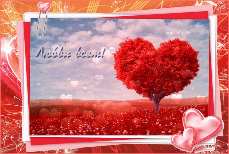 Любви всем~День Святого Валентина открытки 14 февраля